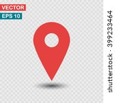 map pointer icon. one of set... | Shutterstock .eps vector #399233464