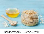 body scrub of oatmeal  sugar ... | Shutterstock . vector #399236941