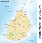 road map of the island state... | Shutterstock .eps vector #399237691