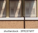 light and shadow on the wooden... | Shutterstock . vector #399237697