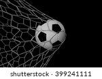 soccer football in goal net... | Shutterstock . vector #399241111