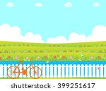 Flower Garden And Bicycle
