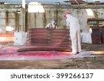 worker  environmental asbestos... | Shutterstock . vector #399266137