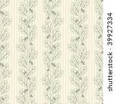 oak trees pattern in modern... | Shutterstock .eps vector #39927334