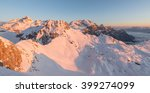sunrise in the winter mountains ... | Shutterstock . vector #399274099