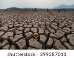 dry land with head skull and... | Shutterstock . vector #399287011