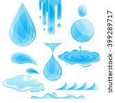 vector water drops and splashes ... | Shutterstock .eps vector #399289717