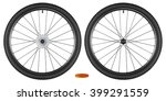 set of bicycle wheels isolated... | Shutterstock . vector #399291559