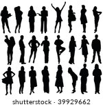 27 silhouettes | Shutterstock . vector #39929662
