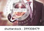 businessman pressing an... | Shutterstock . vector #399308479