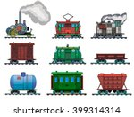 drawing of a steam locomotive... | Shutterstock .eps vector #399314314