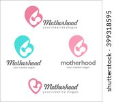set of logos of motherhood and...