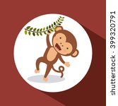 cute monkey  design  | Shutterstock .eps vector #399320791