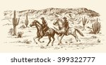 american wild west desert with... | Shutterstock .eps vector #399322777