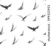japanese sumi e birds pattern | Shutterstock . vector #399322951