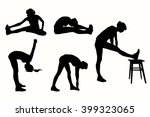 stretching for those who have a ... | Shutterstock .eps vector #399323065