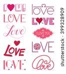 love design elements three | Shutterstock .eps vector #399328909
