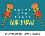 happy ugadi and gudi padwa...   Shutterstock .eps vector #399340201