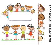 illustration of kids peeping... | Shutterstock .eps vector #399358321