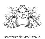 decorative floral horizontal... | Shutterstock .eps vector #399359635