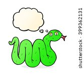 funny cartoon snake with... | Shutterstock .eps vector #399362131