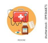 insurance flat icons set for... | Shutterstock .eps vector #399366871