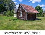 small rural rustic brown house... | Shutterstock . vector #399370414