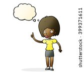 cartoon woman with idea with... | Shutterstock .eps vector #399371611