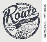 route to freedom old route trip ... | Shutterstock .eps vector #399373135
