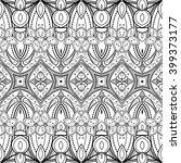 vector seamless abstract black... | Shutterstock .eps vector #399373177