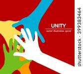 hands diverse unity  | Shutterstock .eps vector #399383464