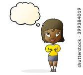 cartoon woman gesturing at self ... | Shutterstock .eps vector #399384019