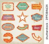 retro banner motel sign eps 10 | Shutterstock .eps vector #399384634