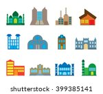 mosque and build structure | Shutterstock .eps vector #399385141