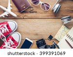 planning for trip clothing and... | Shutterstock . vector #399391069