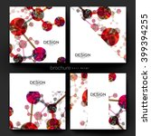 dna molecule vector brochure... | Shutterstock .eps vector #399394255