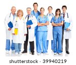 smiling medical doctors with... | Shutterstock . vector #39940219