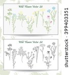 wild flowers set | Shutterstock .eps vector #399403351