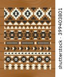 ethnic pattern elements on... | Shutterstock .eps vector #399403801