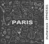 paris chalk line art design... | Shutterstock . vector #399405301