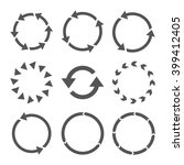 rotation direction vector icon... | Shutterstock .eps vector #399412405
