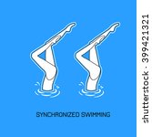synchronized swimming.paired... | Shutterstock .eps vector #399421321