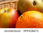 fruit in a basket. close up of... | Shutterstock . vector #399428671