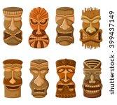 Vector Design Of Hawaiian Tiki...