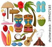 vector design of tropical... | Shutterstock .eps vector #399437185