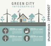 green city information icon... | Shutterstock .eps vector #399444007