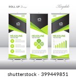 green roll up banner template...