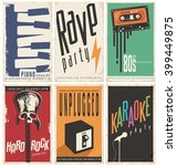 retro music posters collection. ... | Shutterstock .eps vector #399449875