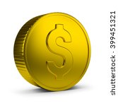 Gold Coin. 3d Image. Isolated...