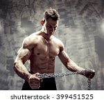 awesome bodybuilder. one... | Shutterstock . vector #399451525